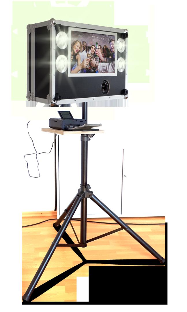Fotobox mit Spiegelreflexkamera